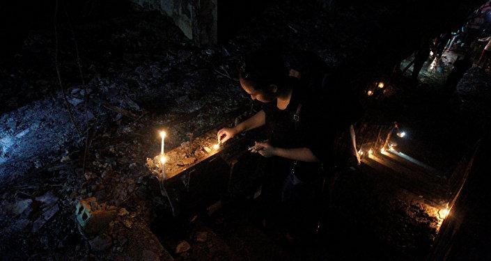 Homenagem às vítimas do atentado em Bagdá