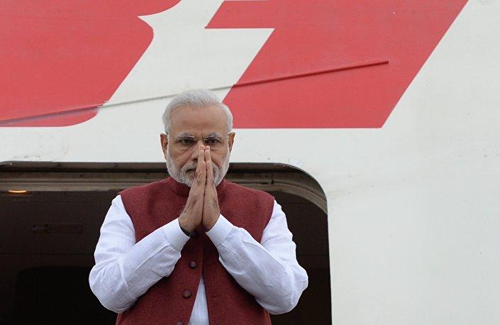 Em julho de 2015, Narendra Modi representou a Índia na cúpula dos BRICS em Ufá
