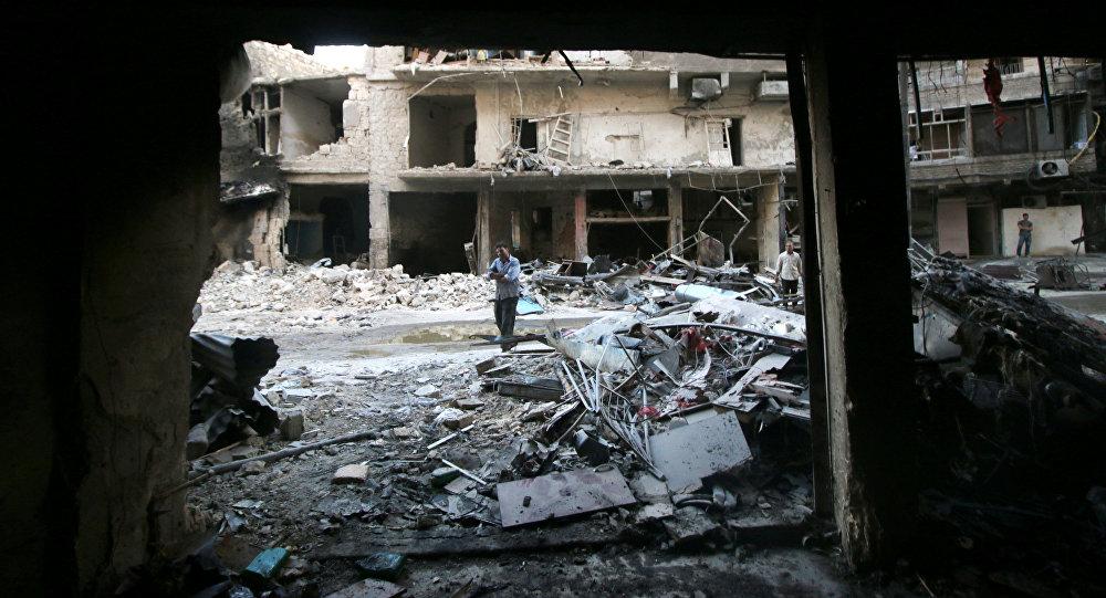 Danos em Aleppo, na Síria
