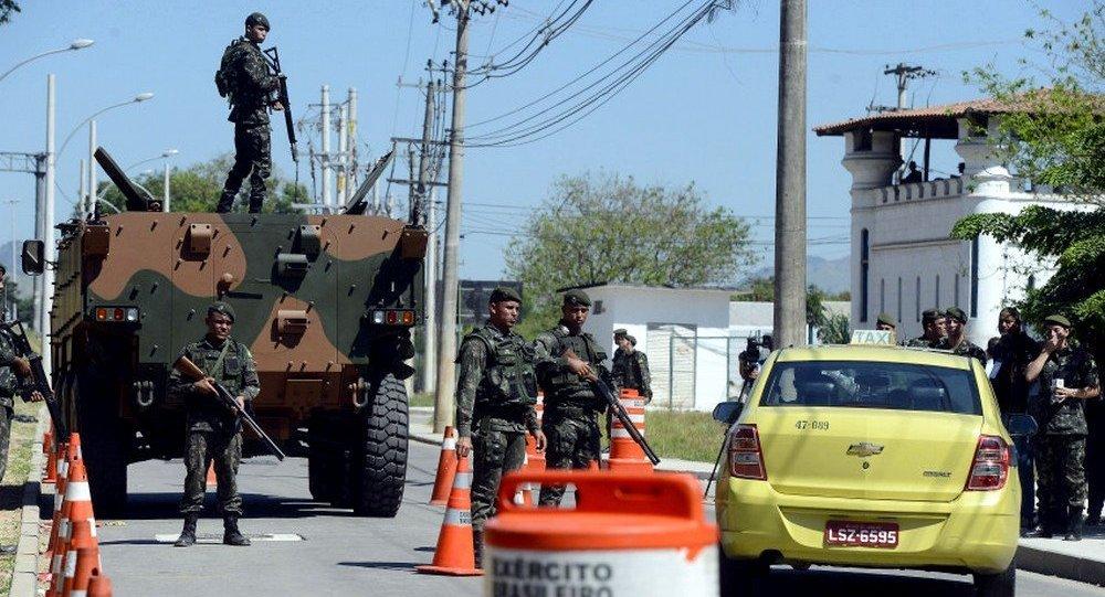 Exército em treinamento para os Jogos Rio 2016
