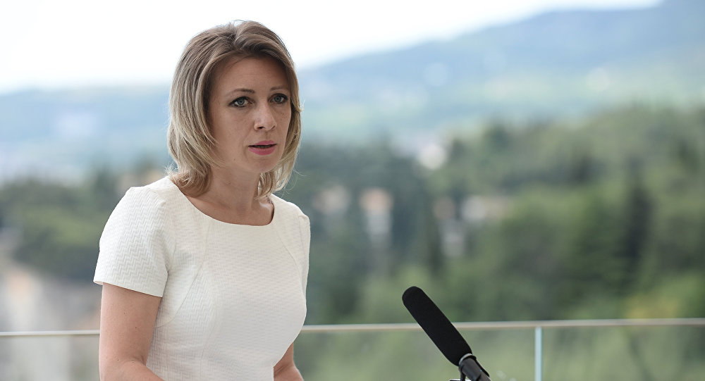 Maria Zakharova, representante do Ministério das Relações Exteriores da Rússia