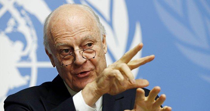 Staffan de Mistura, enviado especial das Nações Unidas para a Síria