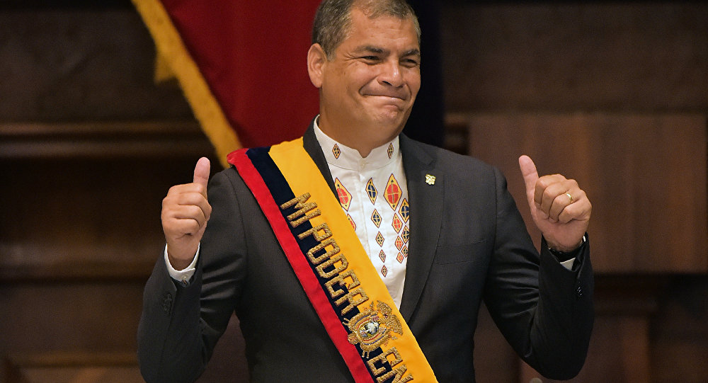 O presidente do Equador, Rafael Correa