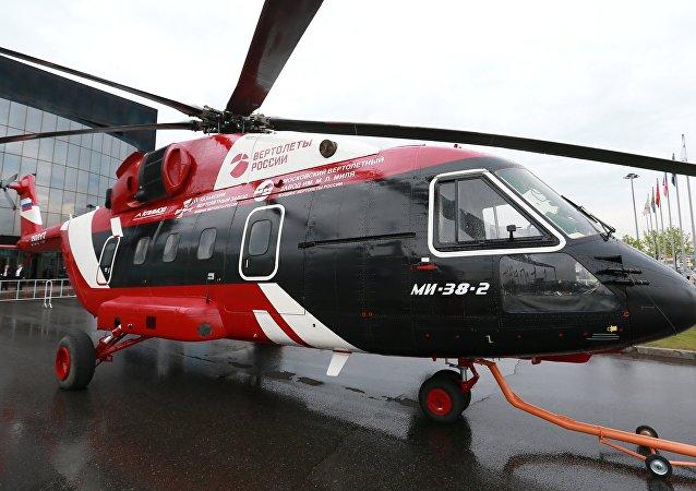 Helicóptero russo Mi-38 estreia na exposição Farnborough 2016