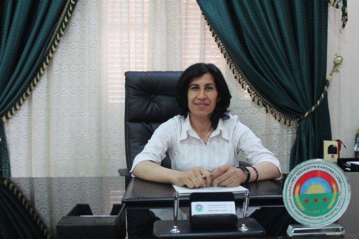 Co-presidente do Conselho constituinte do sistema federativo democrático do Norte da Síria, Hediye Yusuf