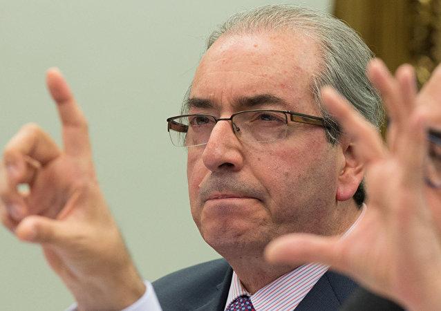 Eduardo Cunha fala na Comissão de Constituição e Justiça da Câmara