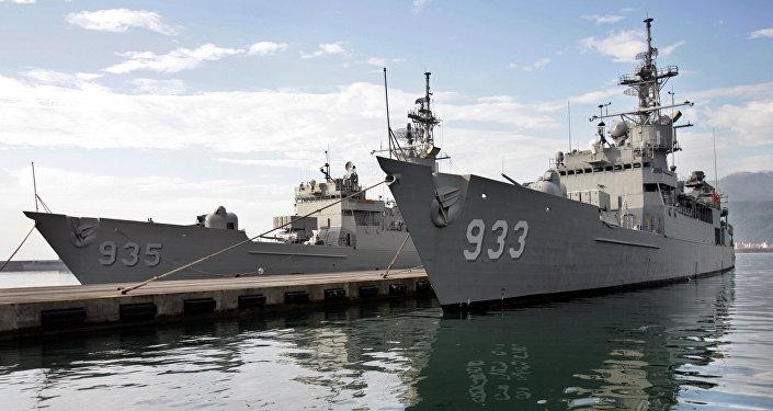 Duas fragatas da Marinha de Taiwan da classe Knox