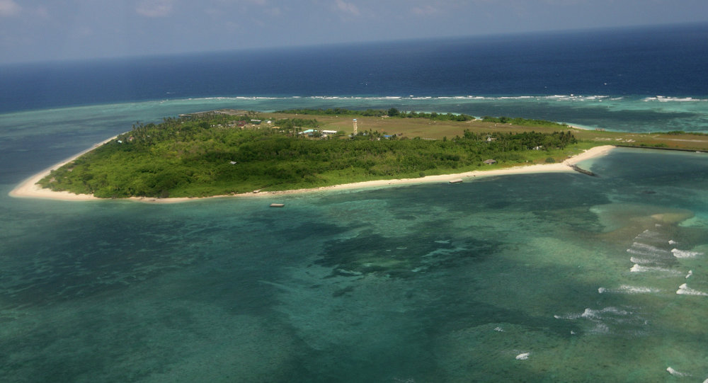 Ilha Thitu do arquipélago Spratly no Mar do Sul da China