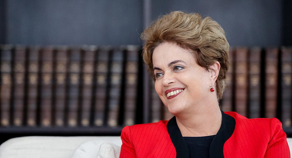 Presidenta Dilma Rousseff durante entrevista no Palácio Alvorada