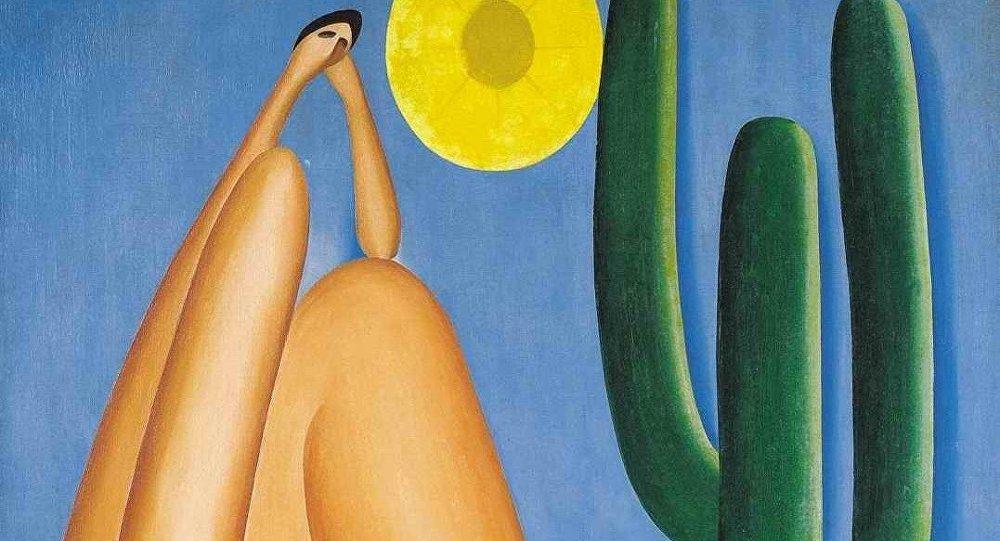 Quadro Abaporu de Tarcila do Amaral estará em exposição no Rio.