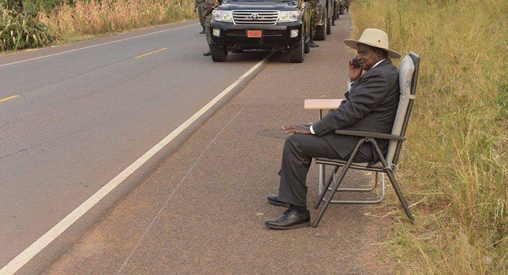Presidente do Uganda Yoweri Museveni