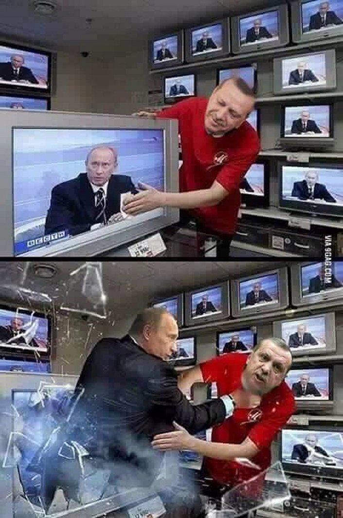 Presidente turco Recep Tayyip Erdogan e o presidente russo Vladimir Putin