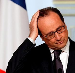 Presidente da França, François Hollande, abril 2016