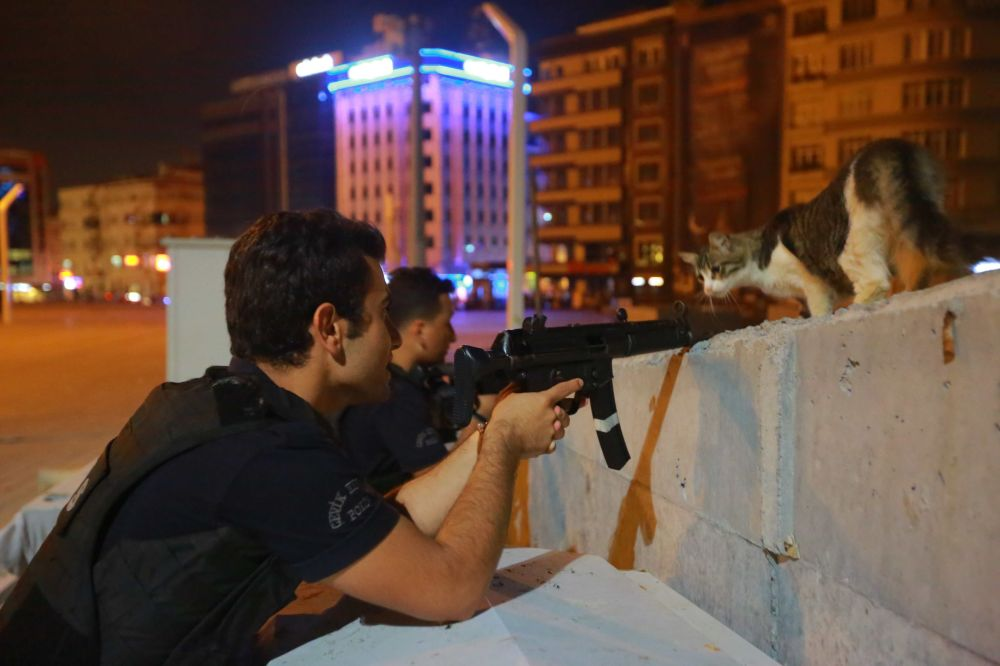 Policiais em Istambul