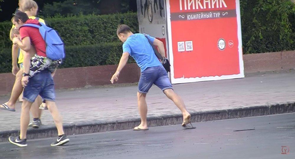 Asfalto derrete com onda de calor no sul da Rússia