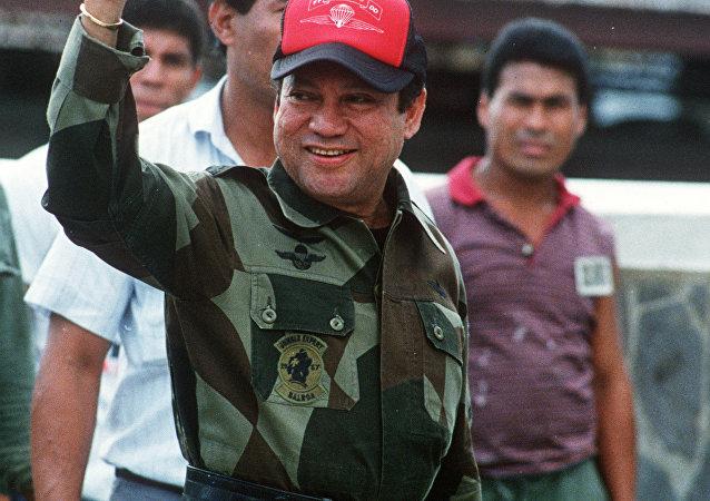 Foto tirada em 4 de outubro de 1989: General Manuel Noriega na Cidade do Panamá