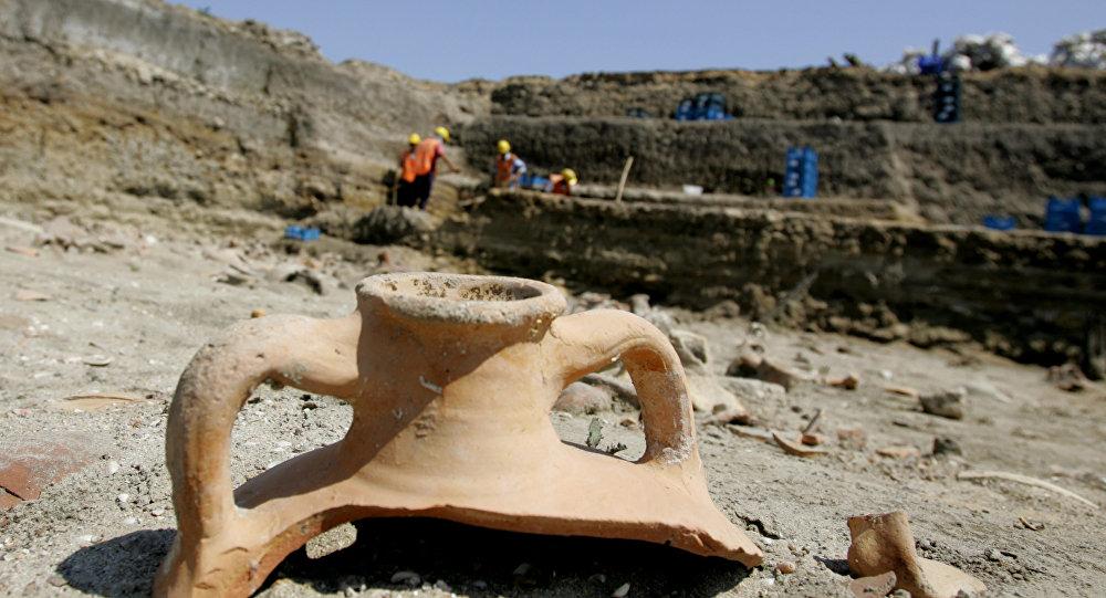 Sítio arqueológico na Turquia