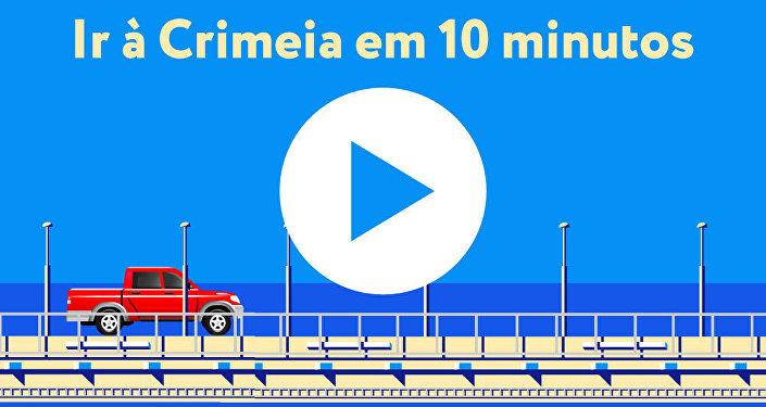 Putin pilota caminhão em inauguração de ponte na Crimeia