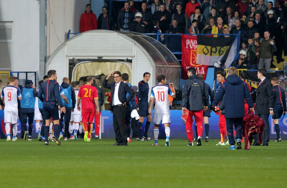 Tumultos no jogo da Eurocopa entre Montenegro e Rússia
