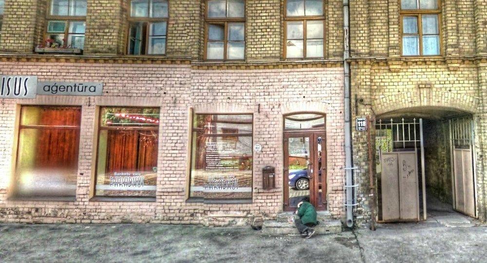 Uma rua na capital letã, Riga (imagem de Google Street View)