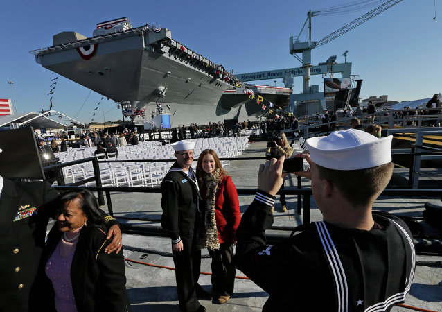 Porta-aviões norte-americano USS Gerald R. Ford