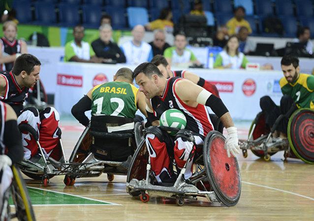 Treinamento para os Jogos Paralímpicos na Rio 2016