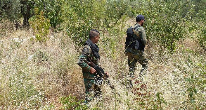 Exército sírio em Latakia