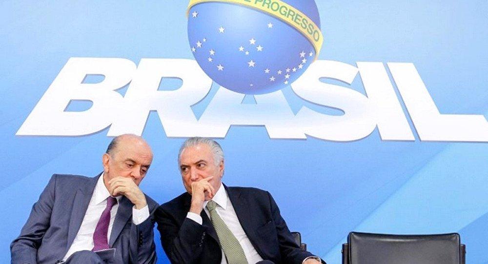 Ministro José Serra e presidente interino Michel Temer são citados em denúncias de pagamento de caixa 2 da Odebrecht