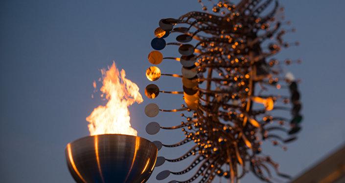 A pira Olímpica da Candelária, no Centro do Rio, foi uma das atrações dos Jogos Olímpicos e Paralímpicos de 2016