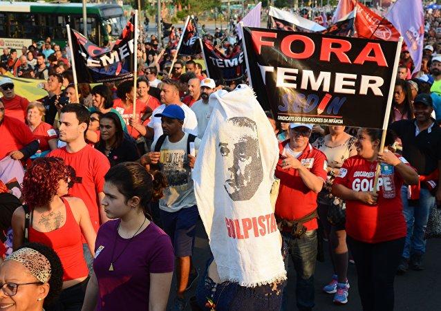 Manifestações contra Temer