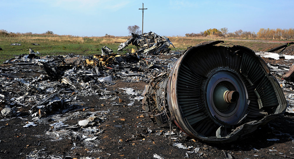 Destroços do voo MH17 da Malaysian Airlines
