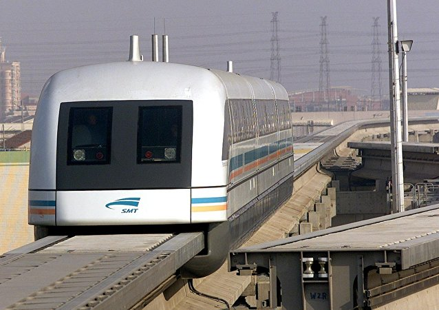 Trem magnético na China