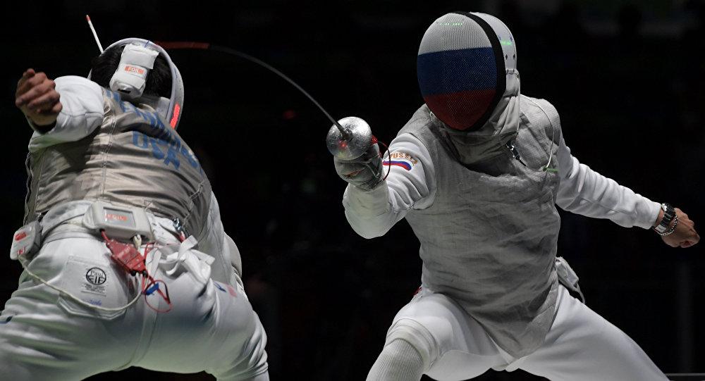 Timur Safin, na semi-final da Rio 2016 contra a equipe dos EUA