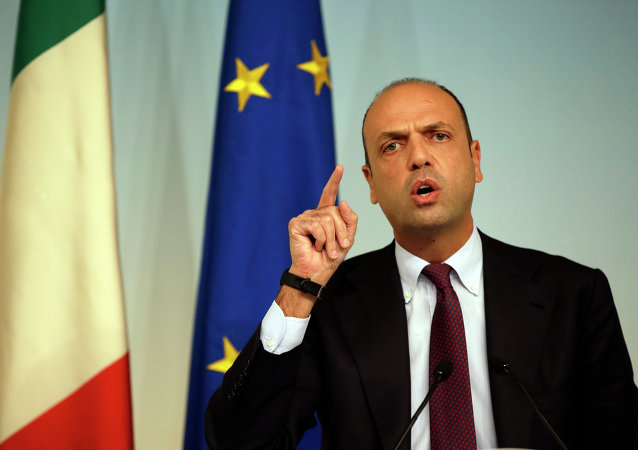 Angelino Alfano, ministro do Interior da Itália