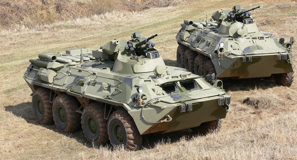 Veículos blindados de transporte BTR-82 e BTR-82A