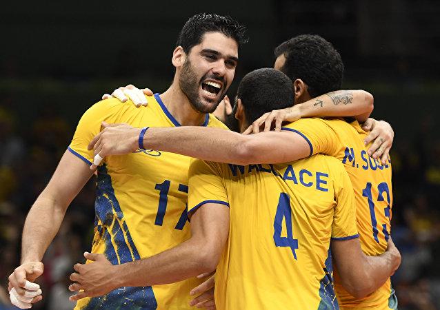 Brasil vence Argentina no vôlei