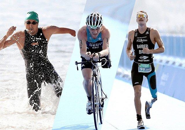 Triatlo é uma das modalidades dos Jogos Paralímpicos