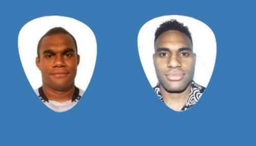 Atletas do rugby do Fiji, Leone Nakarawa e Semi Kunatan