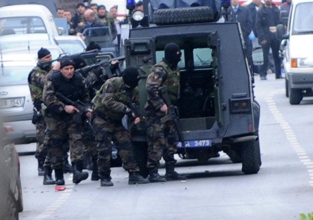 Forças especiais turcas em Istambul