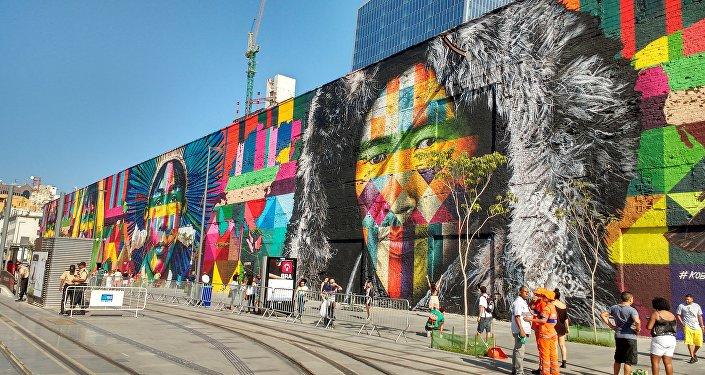 Mural de Eduardo Kobra na Zona Portuária do Rio