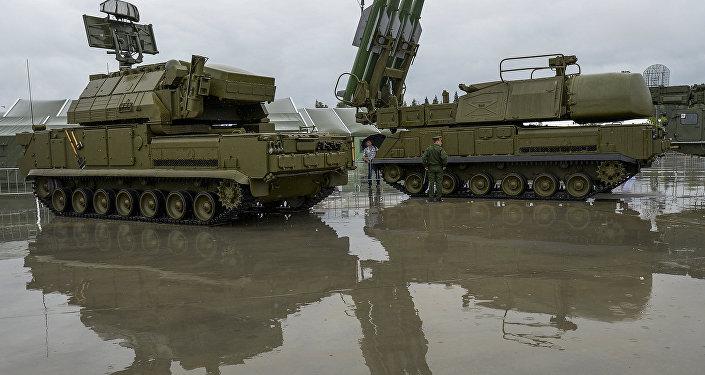 Sistema de defesa antimíssil Buk-1M, Rússia (foto de arquivo)