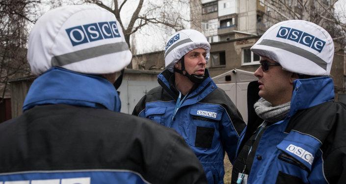 Observadores a OSCE na Ucrânia