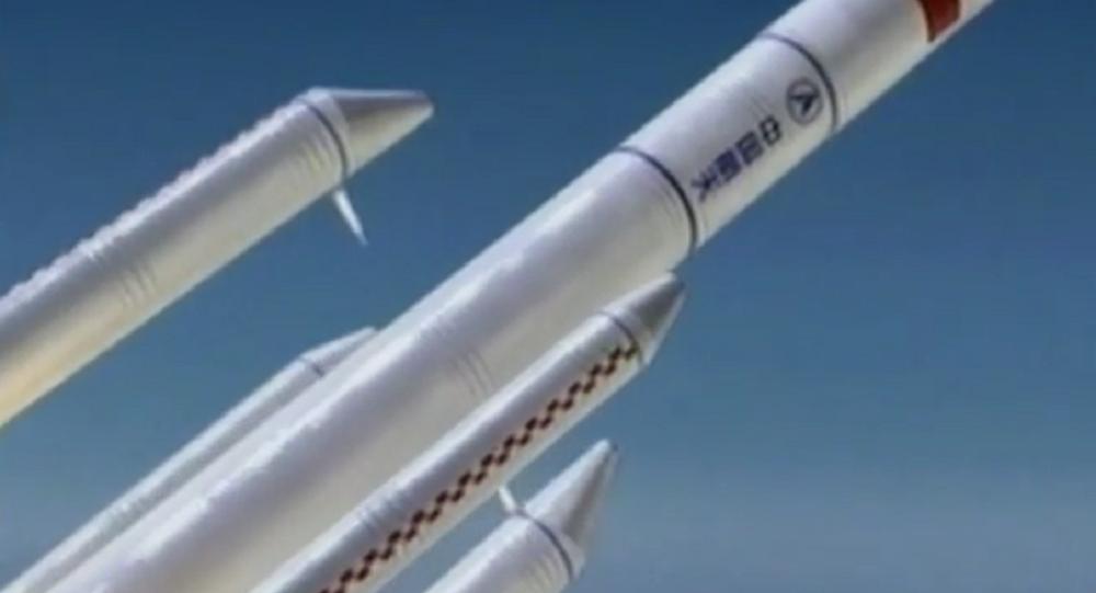 Maior foguete transportador Longa Marcha 5 da China