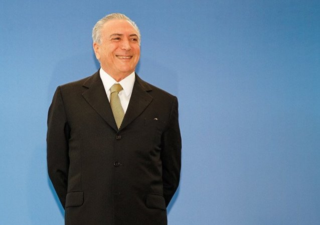 Presidente interino Michel Temer