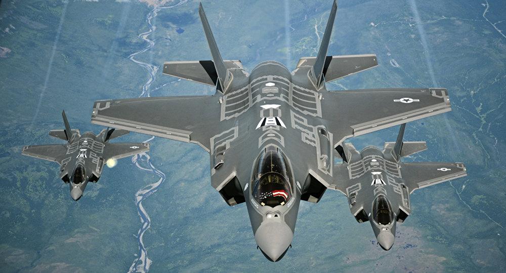 Caças F-35A Lightning II (foto de arquivo)