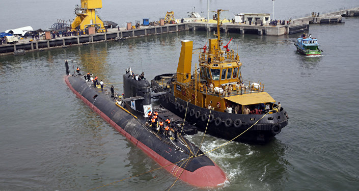 INS Kalvari, um dos seis submarinos Scorpene