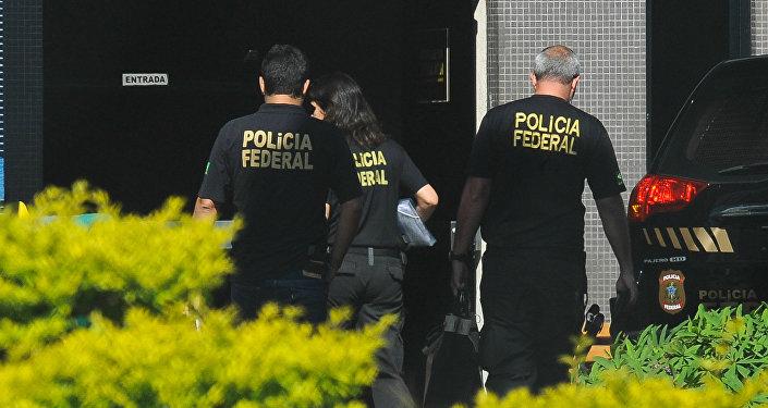 Agentes da Polícia Federal do Brasil, dezembro de 2016 (foto de arquivo)
