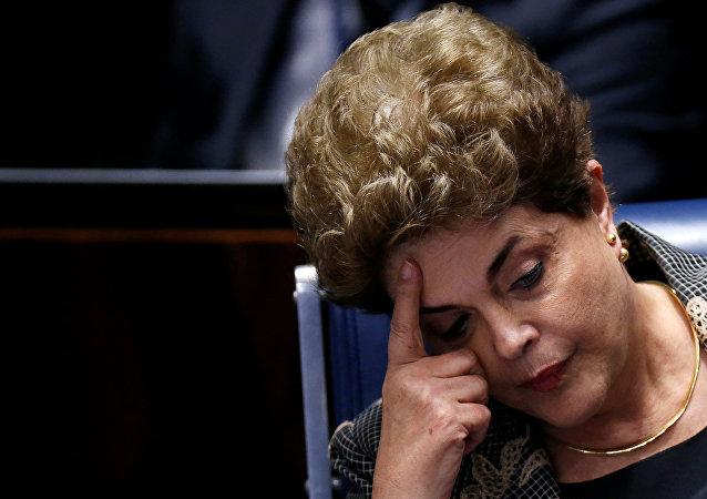 Dilma Rousseff em 29 de agosto de 2016