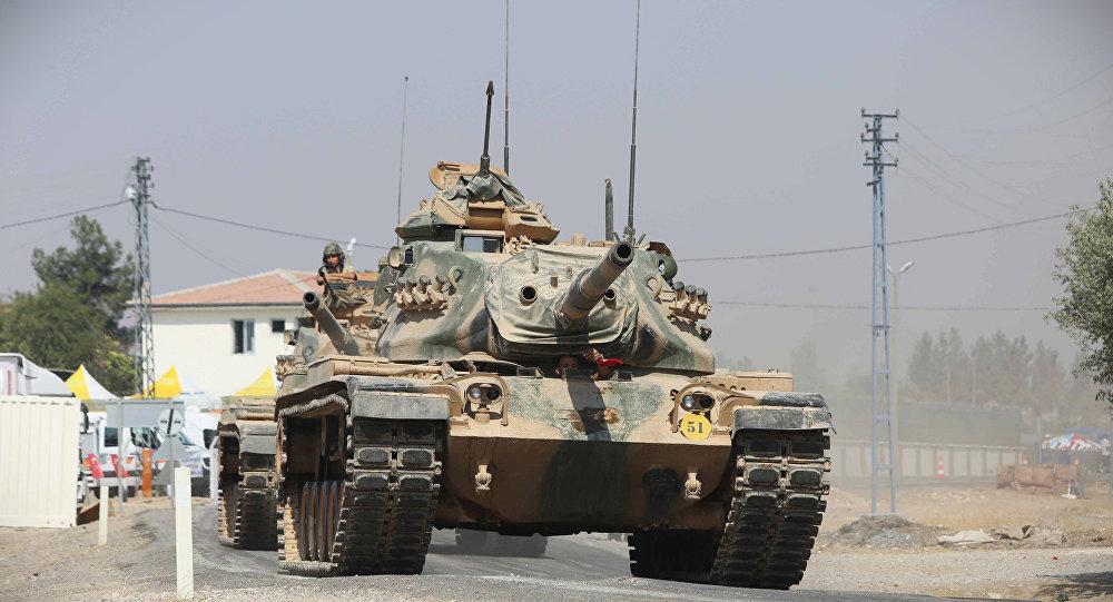 Tanque do exército turco enviado para a Síria