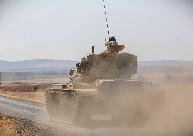 Tanque do exército turco